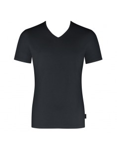 Sloggi Men V-Neck Shirt Evernew Black
