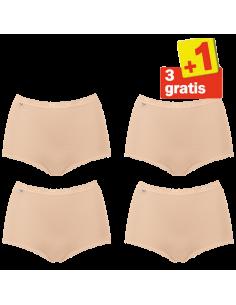 Sloggi women Basic Maxi Slip 4 pack Skin 3+1 Gratis