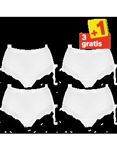 Sloggi Women Romance Maxi Slip 4 pack White 3+1 free