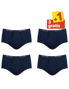 Sloggi Men Basic Maxi 4 pack Blauw 3+1 Free